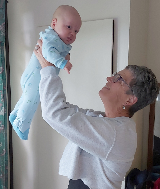 Kim with grandson
